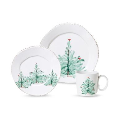 Vietri Lastra Holiday Place Setting
