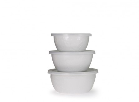 Golden Rabbit   White Nesting Bowls $68.00