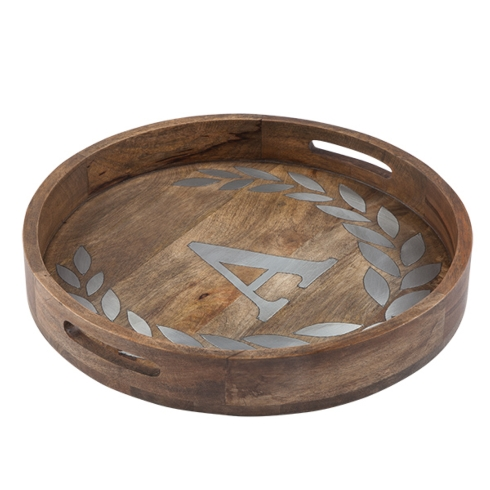 $148.00 Wood w/inlay Initial Tray