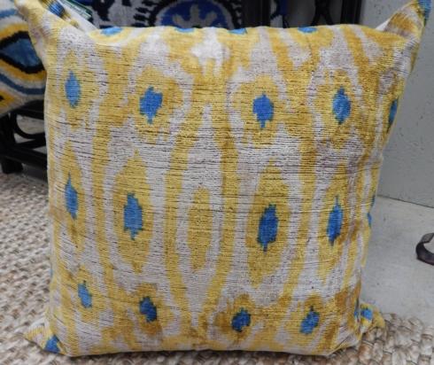 Yellow & Blue Pillow