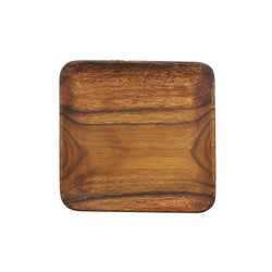 Pacific Merchants   Square Wood Plate $17.95