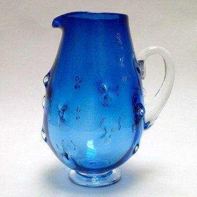 $225.00 Pineapple Pitcher Blue