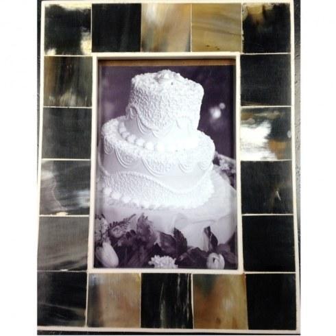 $42.50 Maxxi Designs: Gava Horn & Bone Frame 5x7