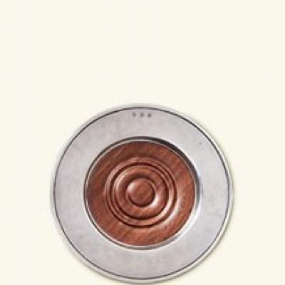 Match  Beverage Service Convivio Wine Coaster with Wood Insert $140.00