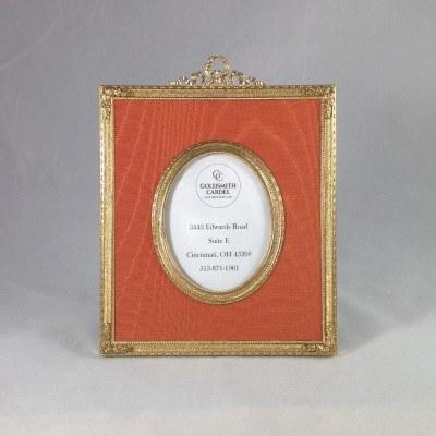 $199.00 Tizo: Bronze with Moire Cognac Oval Frame 2.5x3.5