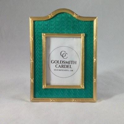 $220.00 Tizo: Gold Trim Bright Green Frame 2x3