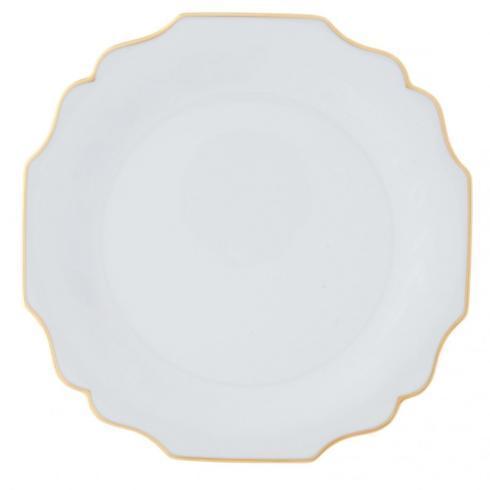 $249.00 Belvedere White & Gold Dinner Plate