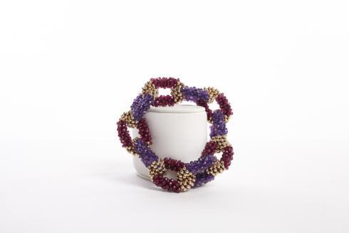 $1,275.00 Bracelet - Elsa Inez Link with Garnet & Amethyst