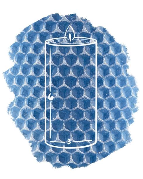 $39.50 Pillar 3x6 Glint French Blue with Sugar Sparkle Provence