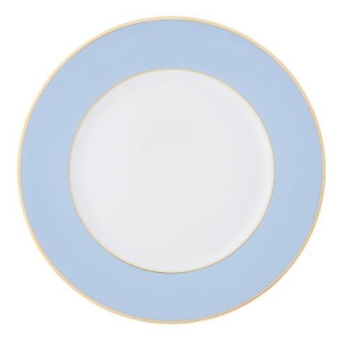 $250.00 Schubert Light Blue with Slim Gold Trim Charger