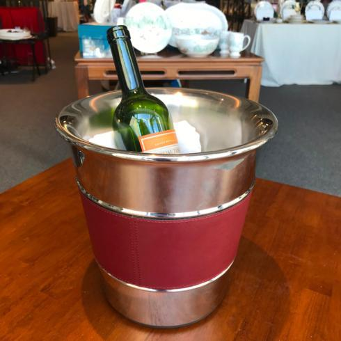 $545.75 Ocean Bottle Cooler Bordeaux With Bordeaux Stitching