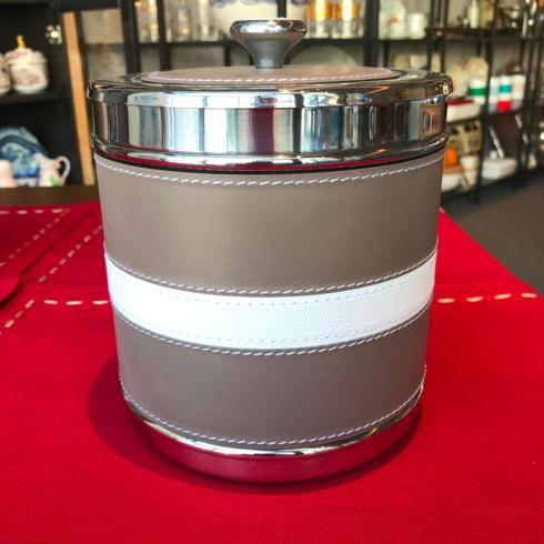 $430.00 Ocean Ice Bucket Nappa Mud Central Stripe in White Golf