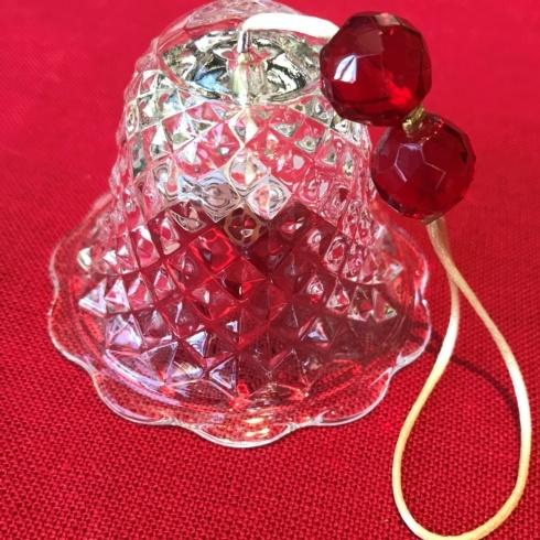 $140.00 Christmas Bell Ornament Clear