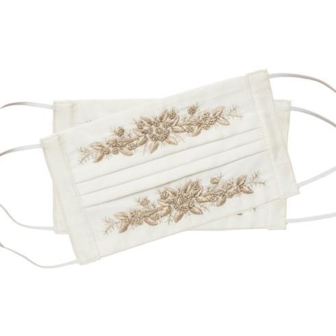 $14.00 Mask - Jardin Gold on Ivory