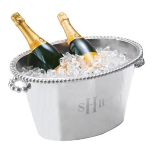 Goldsmith Cardel Exclusives  Mariposa Pearled Double Ice Bucket Monogrammed $390.00