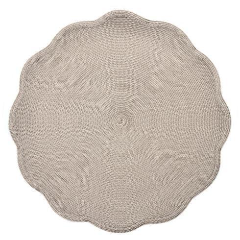 Deborah Rhodes  Placemats Woven Round Scallop Two Tone Cream Dust $29.00