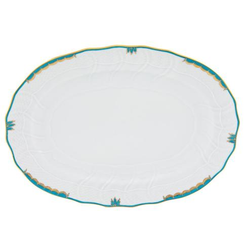 Goldsmith Cardel Exclusives Herend Imports Princess Victoria  Princess Victoria - Turquoise: Oval Vegetable Bowl $225.50