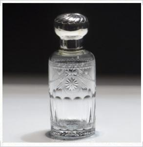 $275.00 Pearl Scent Bottle Silver Top Medium