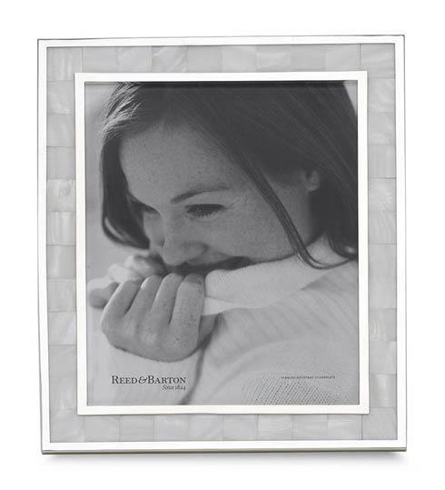 $150.00  Reed & Barton: Mother of Pearl Frame 8x10