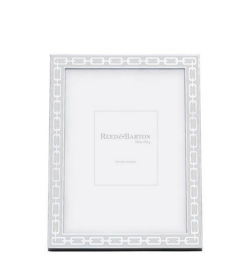 $55.00 Reed & Barton: Silver Link Collection White Frame 5x7