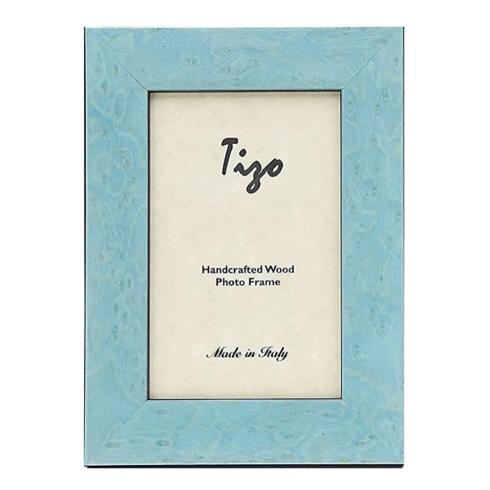 $41.00 Tizo: Wood Baby Blue Frame 5x7