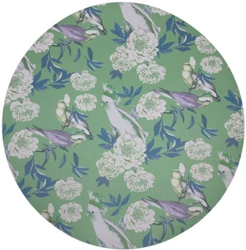 """$24.00 Placemat - Peony Inspiration Tropical Pebble Round 16"""""""