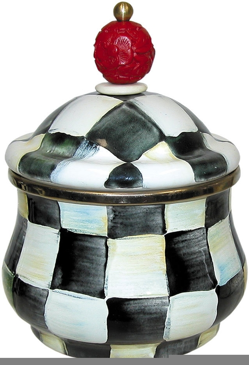 MacKenzie-Childs  Courtly Check Enamelware Courtly Check Enamel Lidded Sugar Bowl $65.00