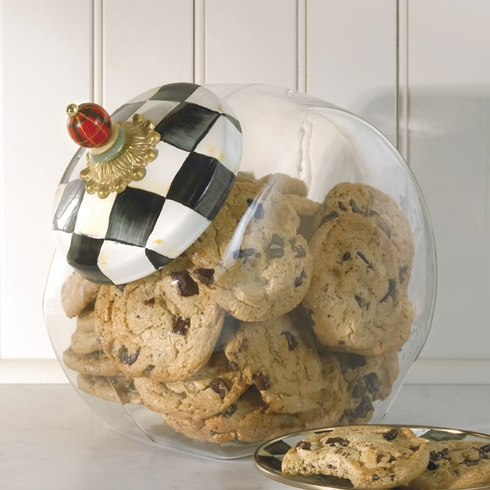 MacKenzie-Childs  Courtly Check Enamelware Cookie Jar with Enamel Courtly Check Lid $56.00