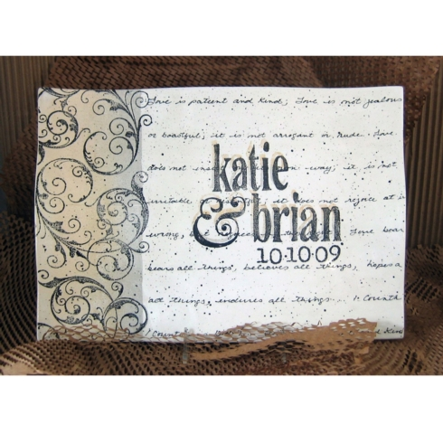 $195.00 Museware - Wedding Invitation Flare Scroll