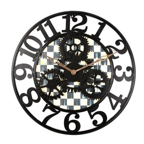 Miscellaneous   MacKenzie-Childs Courtly Check Farmhouse Wall Clock - Small $128.00