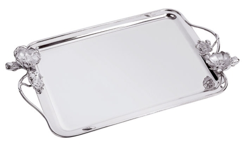 $2,800.00 Anemone-Belle Epoque Large Tray with Handles