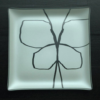 "$88.00 13"" Square Butterfly Plate"