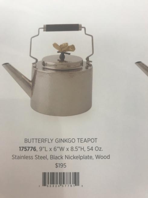 Michael Aram - Butterfly Gingko Teapot collection with 1 products
