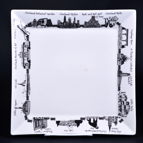 $20.00 Cleveland Small Square Plate
