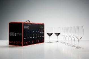 Riedel  Vinum Vinum Cabernet Sauvignon/Merlot/Bordeaux Pay 6 Get 8 $177.00