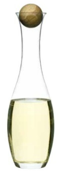 $40.00 Wine/Water Carafe with Oak Stopper