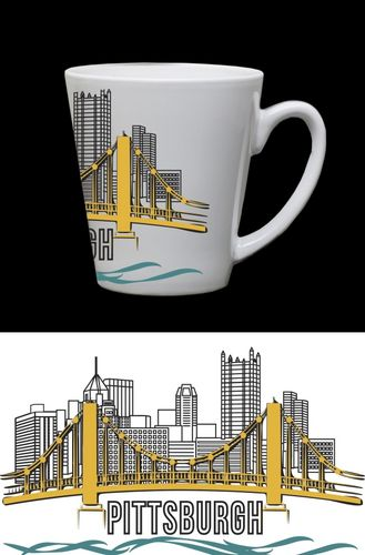 $25.00 Pittsburgh Funnel Mug