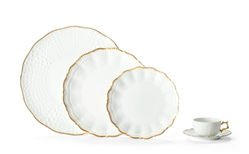 Medard de Noblat - Bread And Butter Plate - Corail Or