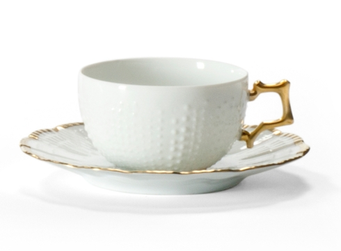 Medard de Noblat - Tea Cup And Saucer - Corail Or collection with 1 products