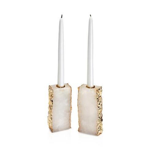$405.00 Dourado Candlesticks - Crystal & Gold