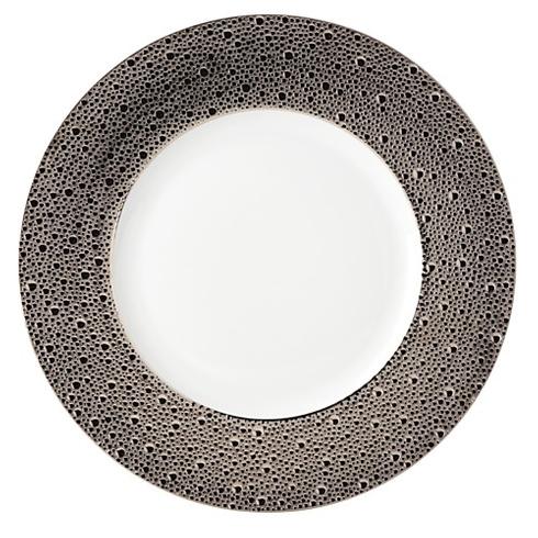 Bernardaud  Ecume Platinum Ecume Platinum Silver Service Plate / Charger $264.00