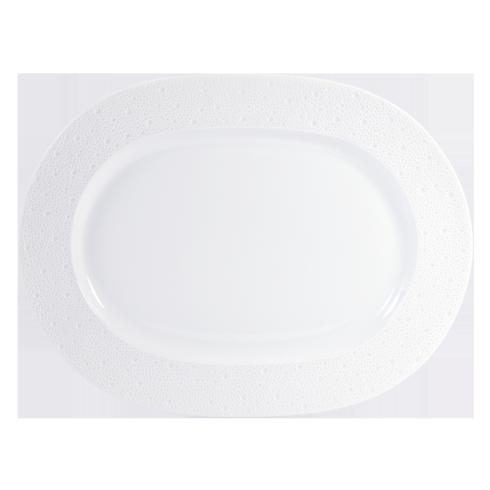 "Bernardaud  Ecume White Oval platter 17"" $458.00"