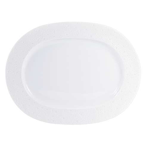 "Bernardaud  Ecume White Oval Platter 14""  $300.00"