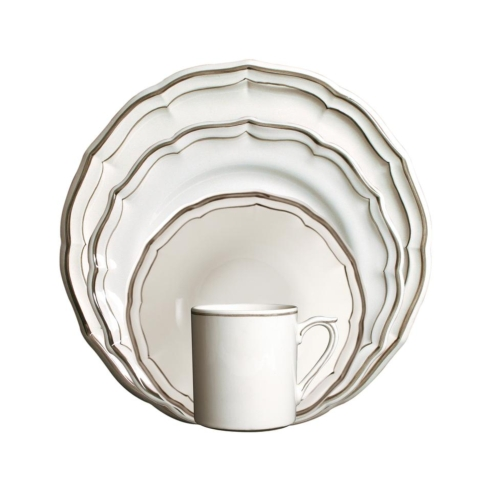 Gien Filets Taupe Custom 4 Piece Place Setting collection with 1 products