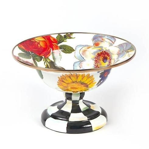MacKenzie-Childs  Flower Market Enamelware (3 Colors) Flower Market Small Compote - White  $76.00