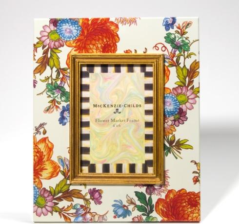 """MacKenzie-Childs  Flower Market Enamelware (3 Colors) Flower Market 4"""" x 6"""" Frame - White $80.00"""