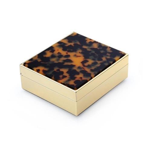 "4"" Faux Tortoiseshell Box (2 Color Choices)"