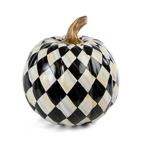 $92.00 Courtly Harlequin Pumpkin - Medium