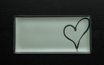 "$40.00 5 x 10"" Rectangle Heart Plate"