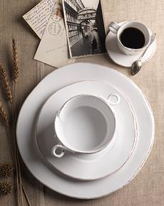 Vietri Lastra White Custom 3-piece Place Setting collection with 1 products